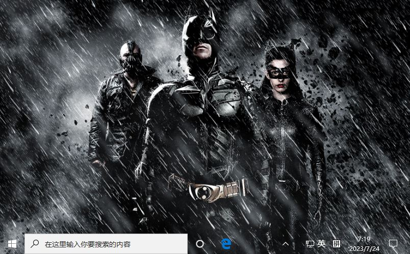 蝙蝠侠:黑暗骑士崛起 (The Dark Knight Rises)Win10主题